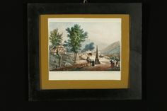 Litografia,acquarellata a mano, datata 1839. Stampata presso Michele Doyen (1809-1861) a Torino. In cornice con vetro.