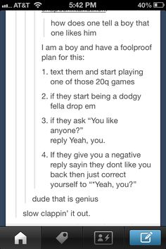 How to tell a boy that you like him- actually this is GENIUS!