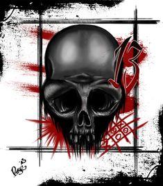 TRash Polka Skull by McRDesign.deviantart.com on @deviantART