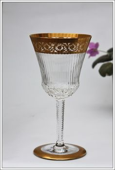 St Louis Thistle Verre à vin n°3 neuf - Burgundy wine glass new