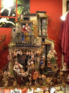 102x60x130-cm-casa-osteria-Neapolitan-creche-crib-Presepe-Napoletano-balcone