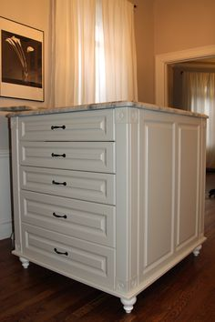 Center Island With A Marble Top? Yes, Please! Marble TopSt  LouisClosetsOrganizersMarblesCabinets