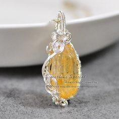 Citrine necklace Wire wrapped crystal pendant necklace Faceted yellow citrine necklace gemstone pendant Healing crystal November Birthstone by somethingsepical on Etsy https://www.etsy.com/listing/252506335/citrine-necklace-wire-wrapped-crystal