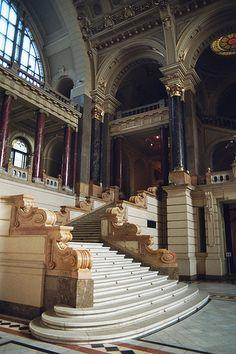 Interior staircase, Ethnographic Museum, Budapest