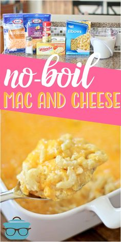 No-Boil Homemade Macaroni and Cheese! The easiest creamiest homemade macaroni and cheese ever. No boiling the noodles f. Side Dish Recipes, Pasta Recipes, New Recipes, Cooking Recipes, Favorite Recipes, Side Dishes, Main Dishes, Steak Recipes, Fall Recipes