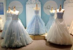 Visions of happily ever after come to life with the enchanting princess wedding dresses in Alfred Angelo's Fairy Tale Bridal Collection. Cinderella Wedding, Cinderella Dresses, Princess Wedding, Wedding Disney, Disney Weddings, Alfred Angelo, Blue Wedding Dresses, Wedding Gowns, Princess Bridal Showers