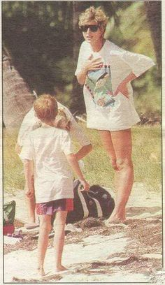it's a trip day for Princess Diana and her Son Prince William.