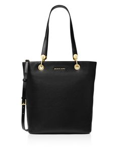 2623ba14b32a MICHAEL Michael Kors Raven Top Zip North/South Large Leather Tote Handbags  - Bloomingdale's