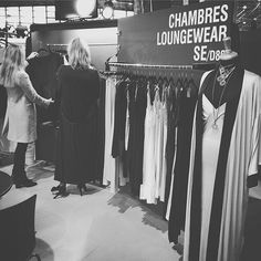 AT THE SALON INTERNATIONAL LINGERIE  PARIS JAN16 BOOTH D89 #chambreslifestyle chambres #cleomaxidress #graceful #seasonless #lingerie #soft #silky