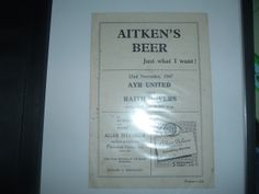 Ayr Utd v Raith Rovers Nov 1947