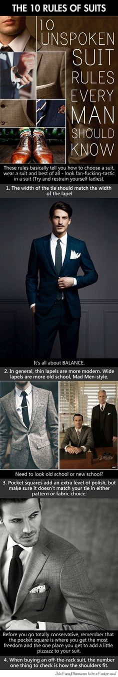 The 10 rules of suits...