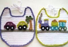 baberos bebe a crochet | Aprender manualidades es facilisimo.com