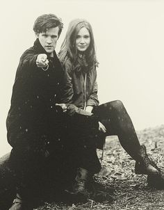 Matt + Karen & the sonic screwdriver.... Oi Doctor! You soniced me!! //// I love how antique this picture looks.