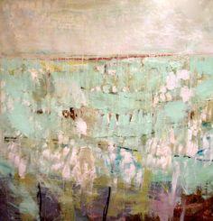 Winter Scene, Original mixed media painting on canvas. $1,350.00, via Etsy.