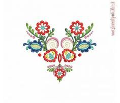 Výšivka Vajnory 20x18 cm Embroidery Patterns, Machine Embroidery, Hungarian Embroidery, Couture, Ornaments, Sewing, Tattoos, Diy, Decor
