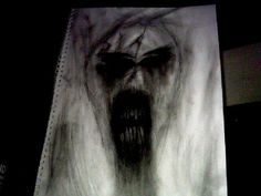 horror pencil sketch