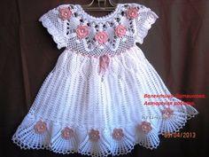 Best 12 Pretty in Pink, extended Camila Mia – SkillOfKing. Crochet Baby Dress Free Pattern, Crochet Dress Girl, Baby Dress Patterns, Baby Girl Crochet, Crochet Baby Clothes, Crochet Woman, Rainbow Crochet, Baby Girl Dresses, Baby Knitting