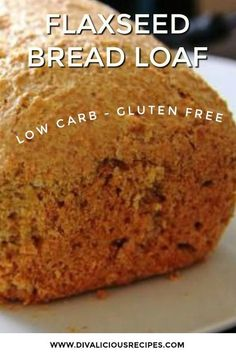 A flaxseed bread loaf that is a healthier replacement for bread as is is high in fibre and low in carbs. Gluten free too, this makes a great bread for toast. A great bread for weightloss or simply a healthier diet. Gluten Free Baking, Gluten Free Recipes, Low Carb Recipes, Healthy Recipes, Bread Machine Recipes, Bread Recipes, Healthy Bread Recipe For Bread Machine, Flax Seed Bread Machine Recipe, Easy Bread