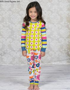"""Jelly the Pug puts the""""POP"""" back in Fall withtheir original prints & designs. Kids love with bright fall jewel tones for the back to school season.Styles Number,Names & Fiber Contents724-Fiesta Linda Skirt Set (100 % Cotton)742-Petals Tina Sweater (100 % Cotton)746-Cascade Alexis Chord Capris with the long sleeve shirt set with Hair Bow (100 % Cotton)756-Cascade Linda Skirt Set (100 % Cotton)761-Cascade Christina Woven Dress-3 (100 % Cotton)918-Cuddle Amy Sleepwear Set (100 % Cot..."""