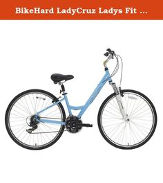 "BikeHard LadyCruz Ladys Fit Powder Blue. The BikeHard LadyCruz is a perfect everyday bicycle for the fitness oriented lady. An ingeniusly designed Lady Fit geometry makes this frame perfect for virtually any lady from 4'8"" - 5'10"". With its low step frame, ease of operation (as well as getting on and off) provides a confident ride. It is constructed of the highest quality custom drawn 6061 double butted aluminum. It is then brushed and polished to a high lustre. Internal cable routing on..."