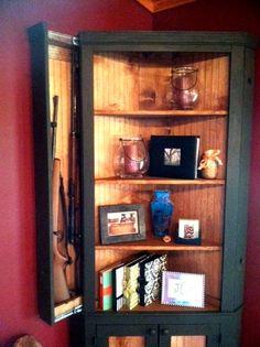 Corner China Hutch with Hidden Gun Cabinet... big fan of this ...