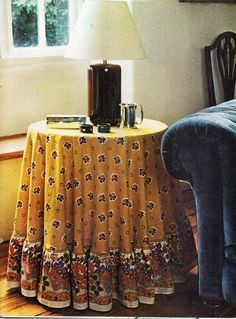 Tablecloth / Table Dressing Sewing Pattern PDF Tutorial Instructions To Make  Circular Table Cloth With Frill