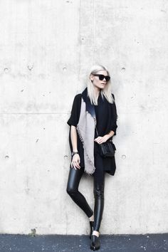 winter essentials, Aritzia, oversized, street style, Blair Badge, leather calf hair clutch