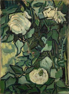 Vincent van GoghRosesSaint-Rémy-de-Provence, May-June 1889 oil on canvas, 33.5 cm x 24.5 cm Van Gogh Museum, Amsterdam (Vincent van Gogh Foundation)
