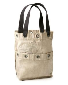 Upcycled mail sack tote