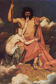 Jupiter and Thetis, by Jean Auguste Ingres