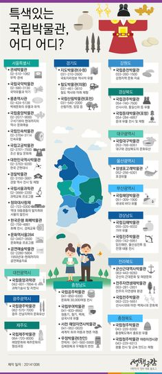 아이들과 함께 가볼 특색있는 전국 국립박물관에 관한 인포그래픽 Page Layout Design, Sense Of Life, Brochure Cover, Information Graphics, Korean Language, Graphic Design Posters, Countries Of The World, Better Life, Kids Playing