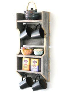 Reclaimed Double Tea Shelf by DougAndCristyDesigns on Etsy