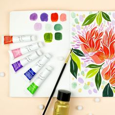 I'm really enjoying the new gouache by The colors are really beautiful and easy to mix. I especially love… Gouache, Traditional, Love, Colors, Illustration, Easy, Beautiful, Instagram, Amor