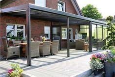 Terrassenüberdachung aus Aluminium & Glas günstig online kaufen »