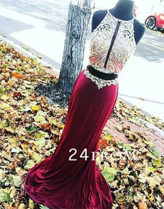 Modest prom dress,unique sequin two pieces long prom dress for teens, formal party dress, cute 2 pieces evening dress #prom #promdress