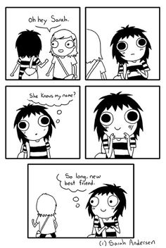 55 Best Ideas For Funny Girl Comics Sarah Anderson Sarah See Andersen, Sarah Andersen Comics, Super Funny, Funny Cute, The Funny, Hilarious, Cute Comics, Funny Comics, Girls Problems
