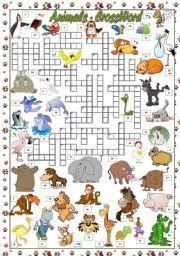 english worksheet endangered animals crossword animals pinterest worksheets and english. Black Bedroom Furniture Sets. Home Design Ideas