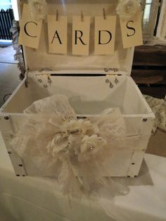 Shabby Chic Wedding Card Box by Its Personal Wedding Staging and Design, Milton, FL