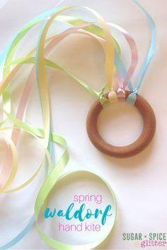 Spring Waldorf Hand Kite ⋆ Sugar, Spice and Glitter