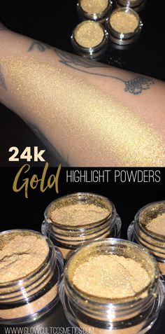24k gold infused highlight powders from glowcultcosmetics.com ✨⚡️ #makeup #beauty #look #idea #inspo #motd