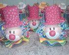 Centro de mesa cabeça do palhaço Clown Party, Circus Party, Atelier Creation, Carnival Crafts, Circus Clown, Ideas Para Fiestas, Craft Party, Party Gifts, Diy And Crafts