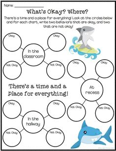 "3 Activities to help kids with self control! Activities are based on the book ""Clark The Shark"" but the book is not necessary! Social Skills Activities, Counseling Activities, Anxiety Activities, Group Counseling, Anger Management Activities For Kids, Play Therapy Activities, Bullying Activities, Counseling Worksheets, Articulation Activities"