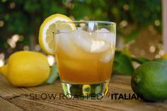 Classic Amaretto Sour:  2 ounces DiSaronno Amaretto  1 ounce fresh lemon juice  1 cup ice  lemon (or lime) slice for garnish