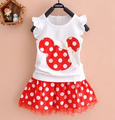 2015 retail Baby Girls Minnie Mouse Princess Birthday Party Outfit Girls Dresses Red Dot Kids Clothing from gldz55555, $6.79 | DHgate Mobile