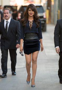 In Barbara Bui at Jimmy Kimmel Live - Style Crush: Priyanka Chopra  - Photos