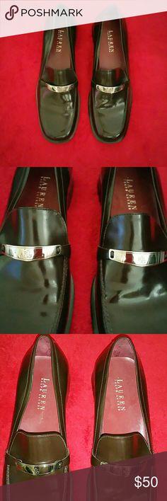 Lauren Ralph Lauren leather loafers Dark brown leather loafers with metal accent buckle. Ralph Lauren Shoes Flats & Loafers