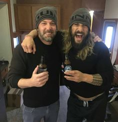 Jason Momoa and Ben Affleck