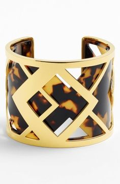 Tory Burch 'Aislin' Geo Acetate Cuff   Nordstrom, How would you style this? http://keep.com/tory-burch-aislin-geo-acetate-cuff-no-by-zen_mind/k/0kJMDEABIR/