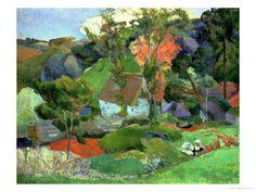 Landscape at Pont Aven, 1888. Paul Gauguin