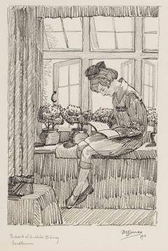 Marthe Donas, Portrait of Andrée Bievez, 1916, pencil on paper, Marthe Donas Foundation